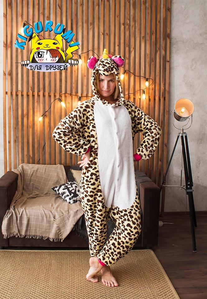 Кигуруми леопардовый единорог