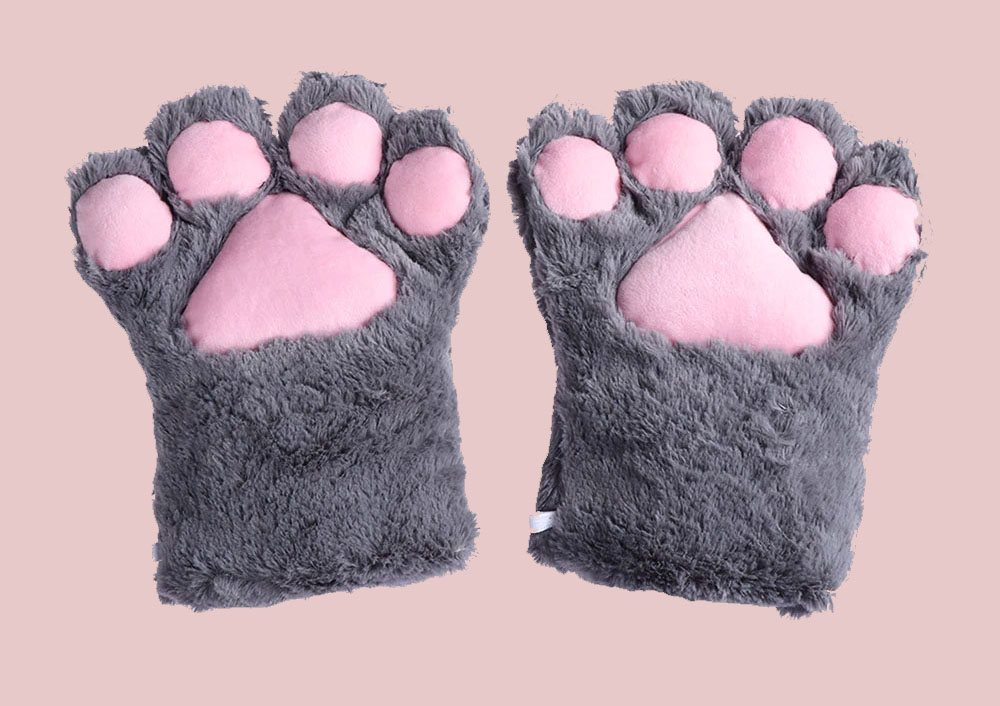кигуруми перчатки кошачьи лапки