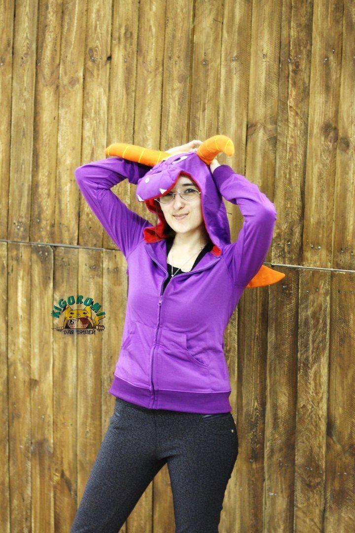 Толстовка кигуруми фиолетовый дракон