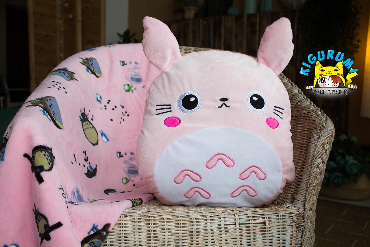 подушка плед игрушка зайка